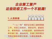 """【海报战""""疫""""】企业复工复产,这些防疫工作一个不能漏!"""