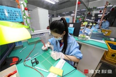 """涟水县:拓展内销市场,企业""""调头""""追订单"""