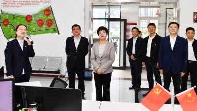 市委书记蔡丽新赴清江浦区调研