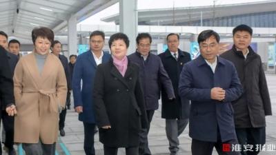 连淮扬镇即将全线开通,今天蔡书记来到高铁东站!