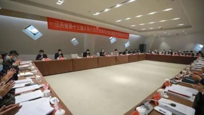 """淮安代表团审查省""""十四五""""规划和二〇三五年远景目标纲要草案"""