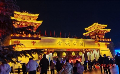 【网络中国节·春节】流光溢彩迎新春 灯火璀璨饰金城