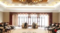 市长陈之常会见沙钢集团董事局主席沈文荣一行