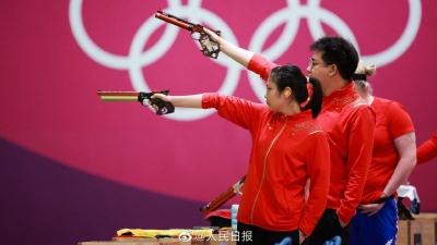 第7金!姜冉馨/龐偉獲得十米氣手槍混合團體金牌